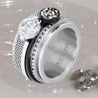 IXXXI JEWELRY RINGEN iXXXi COMBINATION RING SILVER 1012