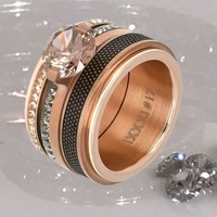 IXXXI JEWELRY RINGEN iXXXi COMBINATIE RING ROSE 1013 ROSE