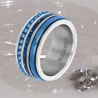 IXXXI JEWELRY RINGEN iXXXi COMBINATIE RING SILVER 1019 Bolletjes Blue