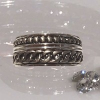 IXXXI JEWELRY RINGEN iXXXi CHAIN ​​SILVER RING 1022 KOMBINATION CURB