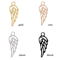 iXXXi JEWELRY IXXXI JEWELRY CHARM ANGEL WING STAINLESS STEEL