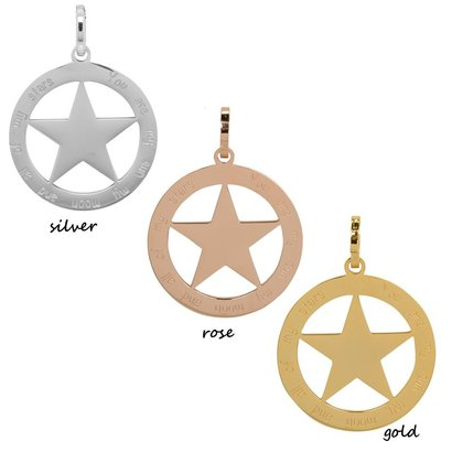iXXXi JEWELRY IXXXI JEWELRY PENDANT YOU ARE STAR  STAINLESS STEEL KIES DE KLEUR