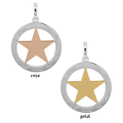 iXXXi JEWELRY IXXXI JEWELRY PENDANT YOU ARE STAR 2 COLOR STAINLESS STEEL KIES DE KLEUR
