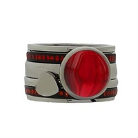 IXXXI JEWELRY RINGEN iXXXi COMBINATIE RING 12mm SILVER 1027 Red Stone Heart