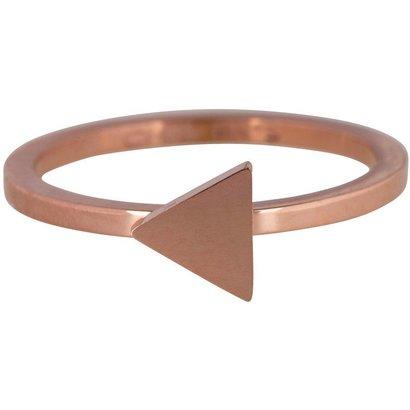 CHARMIN'S Charmins TRIANGLE Stahl Stapel Stahlring R396 Rose Gold Schaft Modeschmuck Marke Charmin ist.
