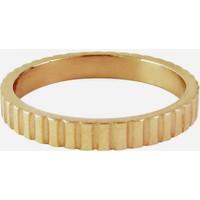 CHARMIN'S Charmins Ring Shiny gezackt Gold Stahl Stahl