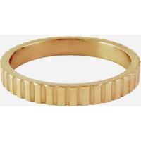 CHARMIN'S Charmins ring Shiny SERRATED Steel Gold Steel