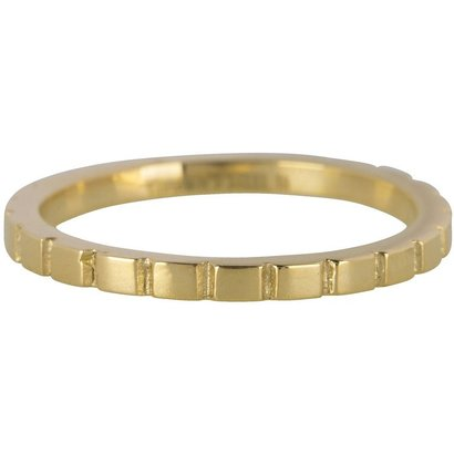 CHARMIN'S Grundsätzlich Charmins Shiny Stahl Stahlpfahl Ring R440 Gold Schaft Modeschmuck Marke Charmin ist.