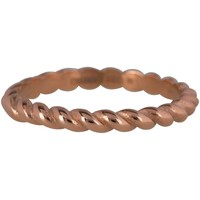 CHARMIN'S Charmins Ring Shiny CURVES Rose Gold Stahl Stahl