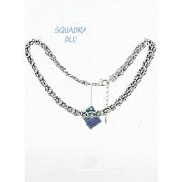 SQUADRA BLU Dutch Design Jewelry SQUADRA BLU KETTING MET FANTASIE SCHAKEL