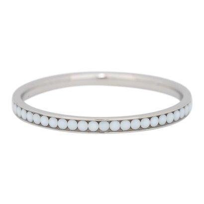 IXXXI JEWELRY RINGEN iXXXi Vulring 0.2 cm White Stone Zilverkleurig  Stainless steel