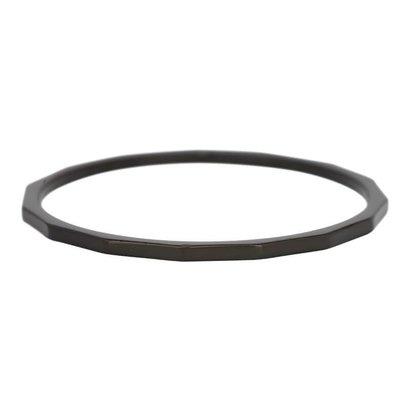 IXXXI JEWELRY RINGEN iXXXi Washer 0,1 cm Schräg schwarz Edelstahl