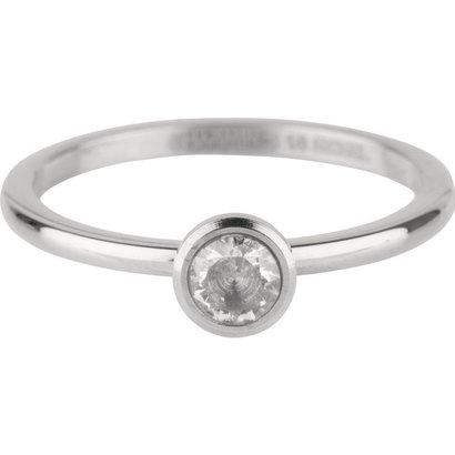 CHARMIN'S Charmins Shiny STYLISH Bright Steel stalen stapelring R488 Silver van het fashion sieradenmerk Charmin's.
