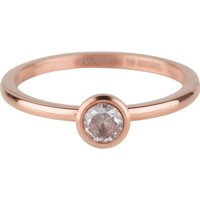 CHARMIN'S Charmins ring Shiny STYLISH Bright Steel Rosegold Staal