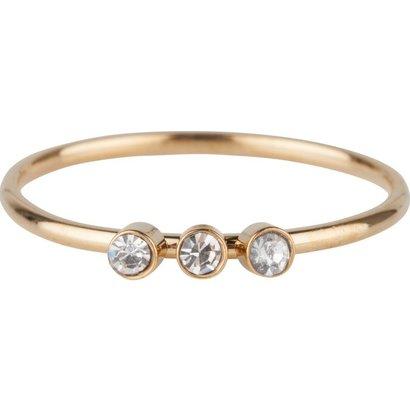 CHARMIN'S Charmins Shine Bright 3.0 Stahl Stahl Setzring R505 Gold von Charmin's Modeschmuck Marke.