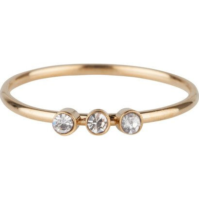 CHARMIN'S Charmins Shine Bright 3.0 Steel stalen stapelring R505 Goldvan het fashion sieradenmerk Charmin's.