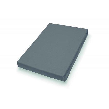 Socratex Premium Jersey Hoeslaken met elastaan   extra hoog   antraciet
