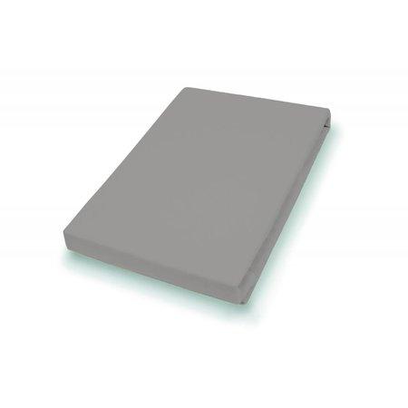 Socratex Premium Jersey Split-Topper Hoeslaken kiezel, 180-200 x 200-220 cm