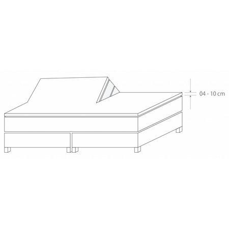 Socratex Premium Jersey Split-Topper Spannbetttuch Kiesel, 180-200 x 200-220 cm