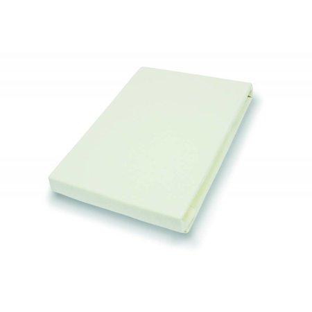 Socratex Premium Jersey Split-Topper Hoeslaken ecru, 180-200 x 200-220 cm