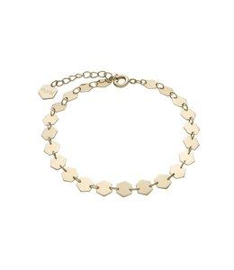 Cluse Essentielle goldenes Kettenarmband aus lauter Hexagonen