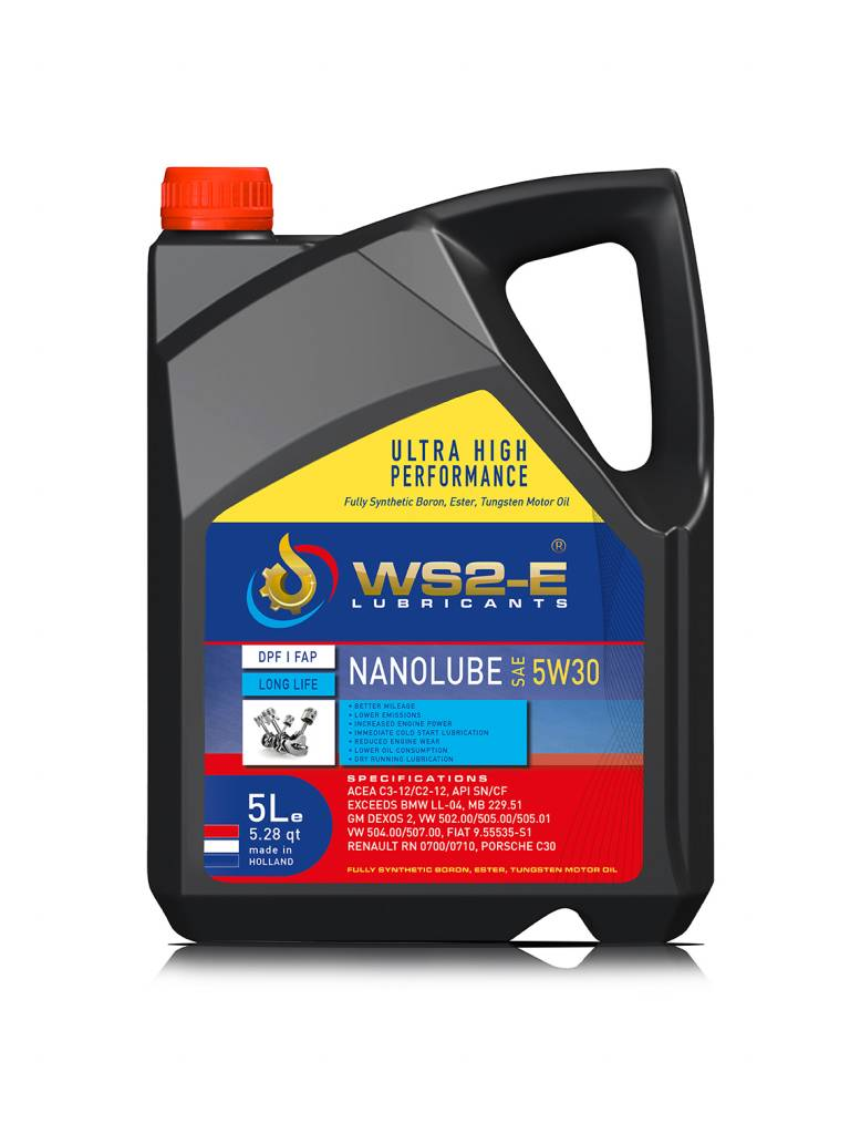 WS2-E Nanolube 5W30 *5 liter motorolie