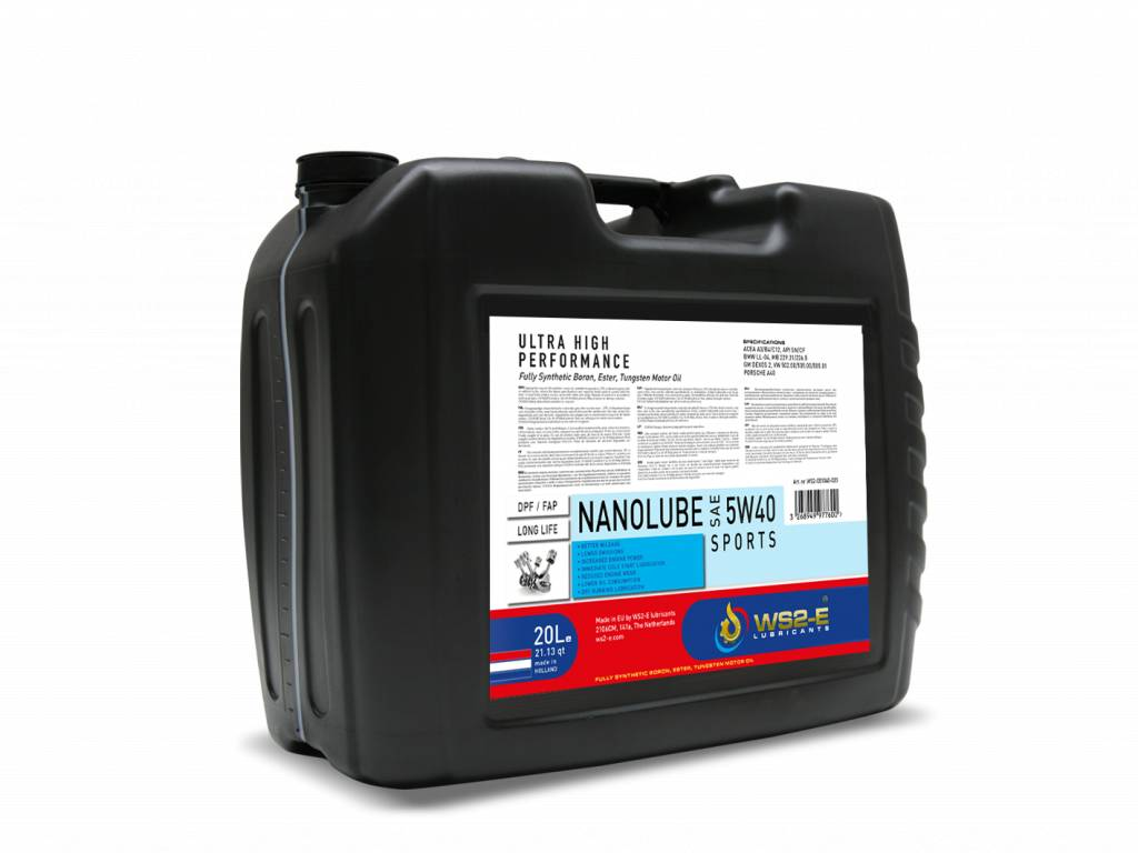 WS2-E Nanolube 5W40 *20 liter motorolie