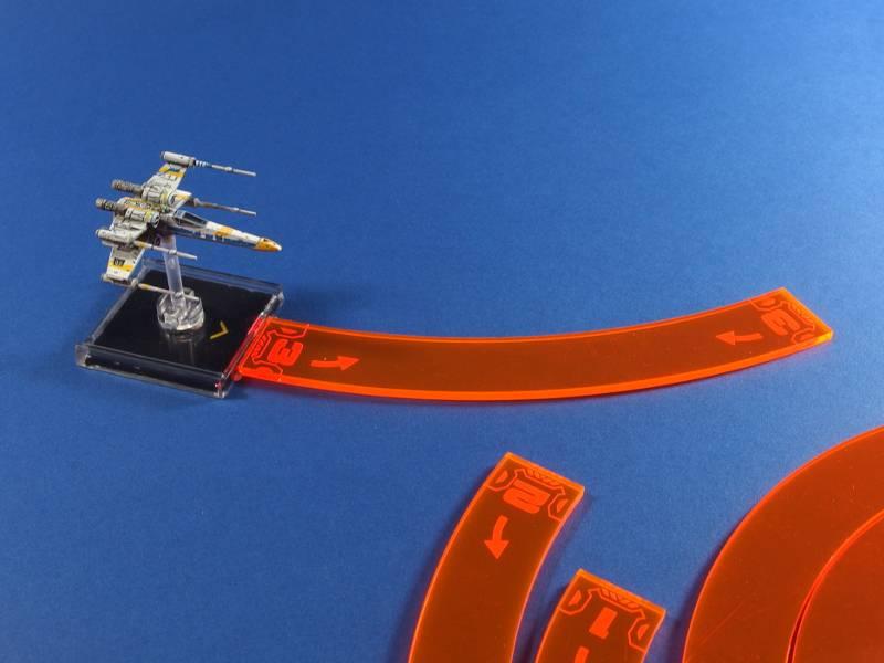 X-wing Movement Templates Orange