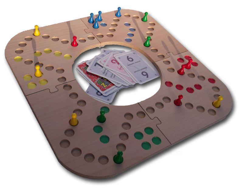 Keezbord hout 4 spelers