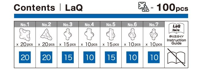 LaQ Free Style Blauw (100)