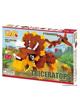 LaQ LaQ Dinosaur World Triceratops and Pteranodon