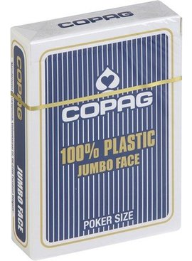 Copag Poker jumbo faces - 2 index blauw