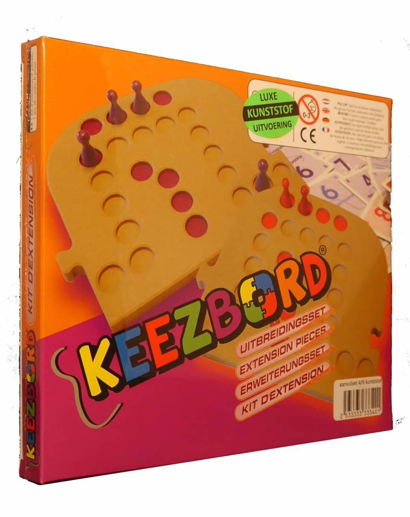 Keezbord Keezbord kunststof aanvulset 6 spelers