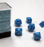 Chessex Opaque Light Blue/white Polydice Dobbelsteen Set (7 stuks)