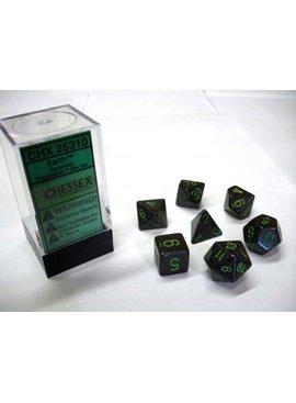 Chessex Earth Speckled Polydice Dobbelsteen Set (7 stuks)