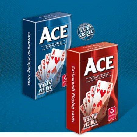 Ace Bridge Extra visible rood - Speelkaarten