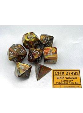 Chessex Lustrous Gold/silver Polydice Dobbelsteen Set (7 stuks)