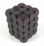 Opaque Black/red D6 12mm Dobbelsteen Set (36 stuks)