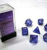Chessex Opaque Purple/white Polydice Dobbelsteen Set (7 stuks)