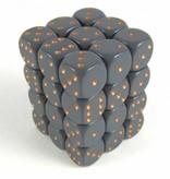 Opaque Dark Grey/copper D6 12mm Dobbelsteen Set (36 stuks)