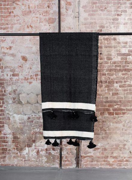 PRE-ORDER Berber pompom blanket L