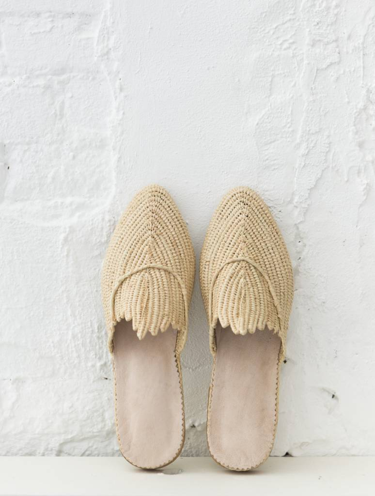 Handmade Raffia Shoe From Morocco The Souks