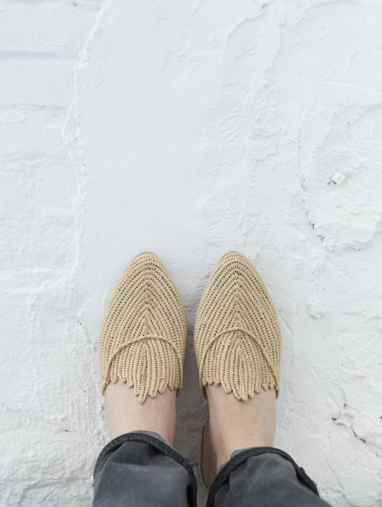 Handmade Raffia Shoe From Morocco The Souks