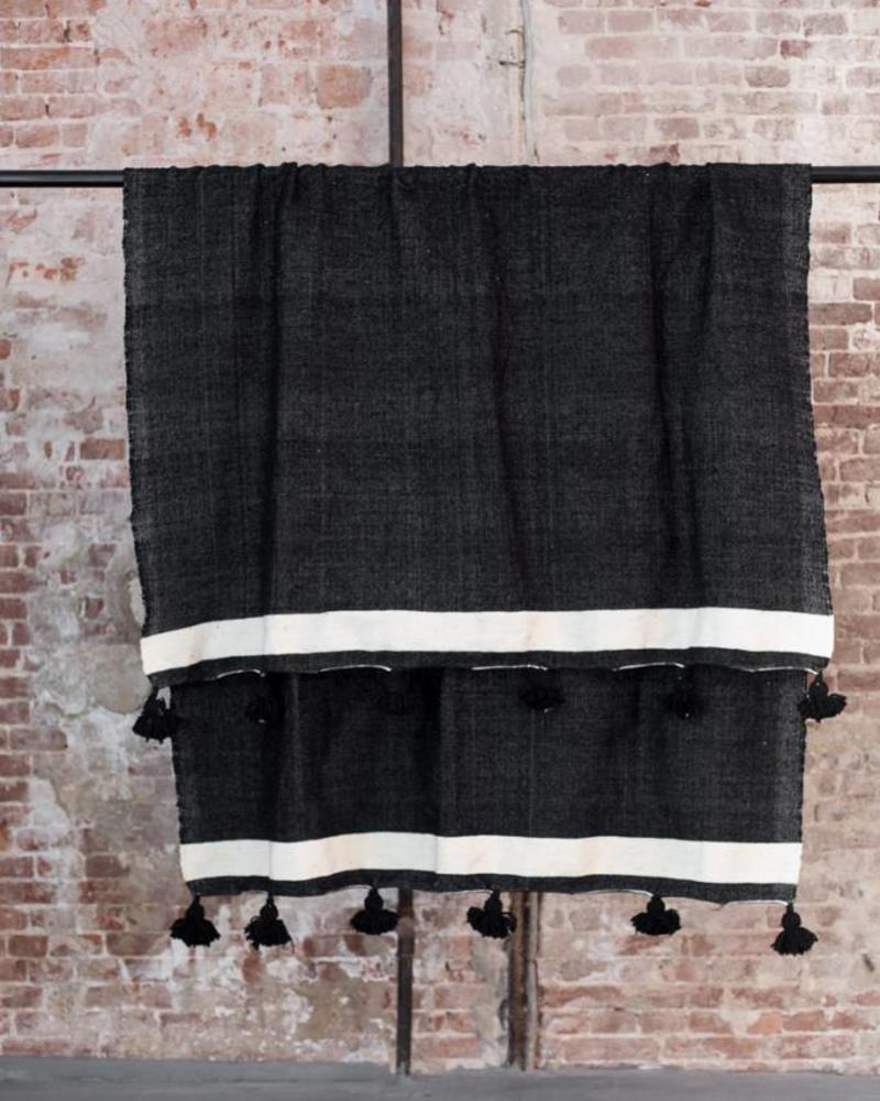 cotton pompom berber blanket