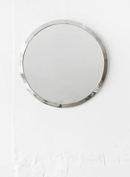 Silver Round Mirror from Morocco