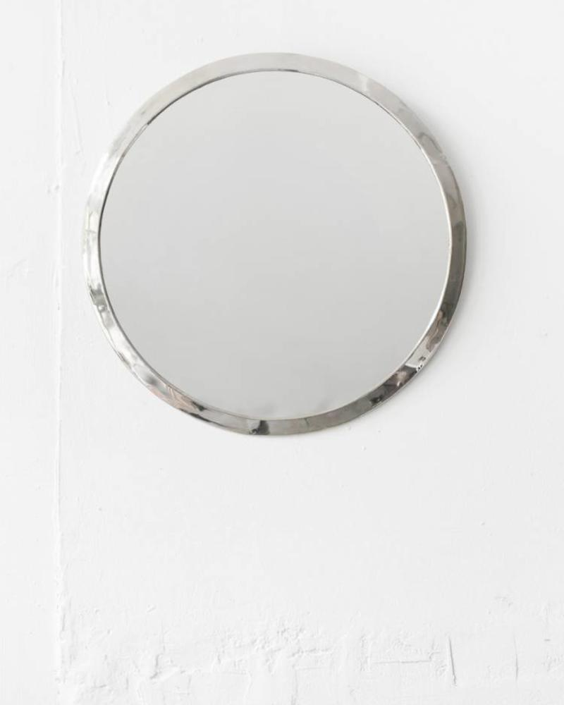 Silver colored round mirror from Morocco - Copy