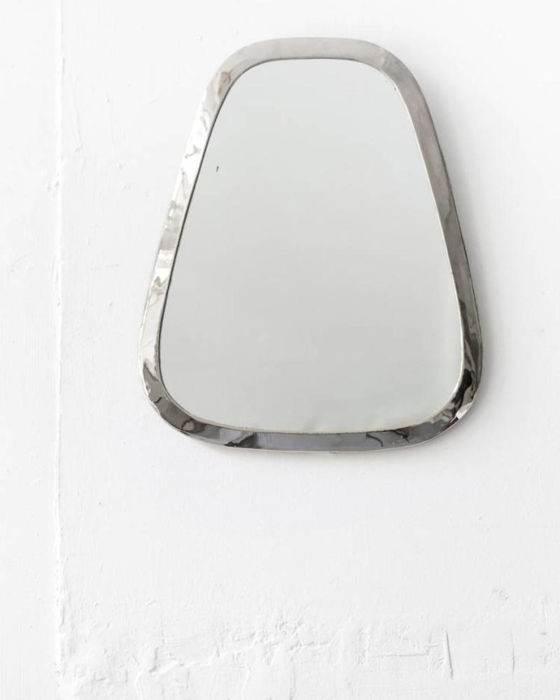 Silver colored cone mirror from Morocco