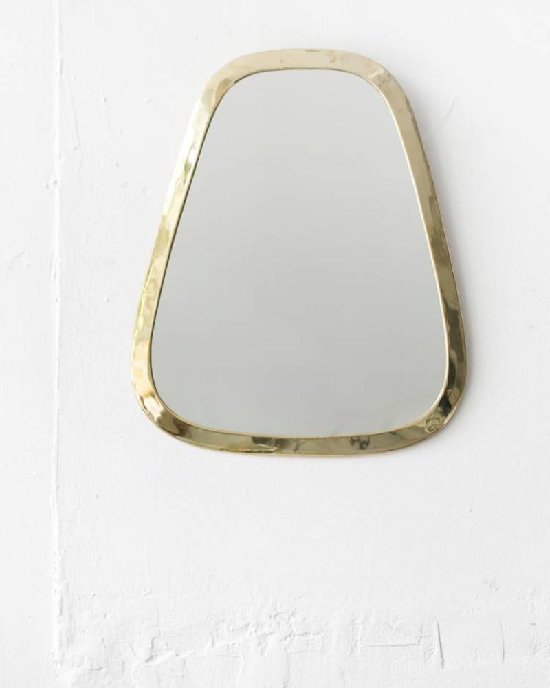 Gold colored cone mirror from Morocco