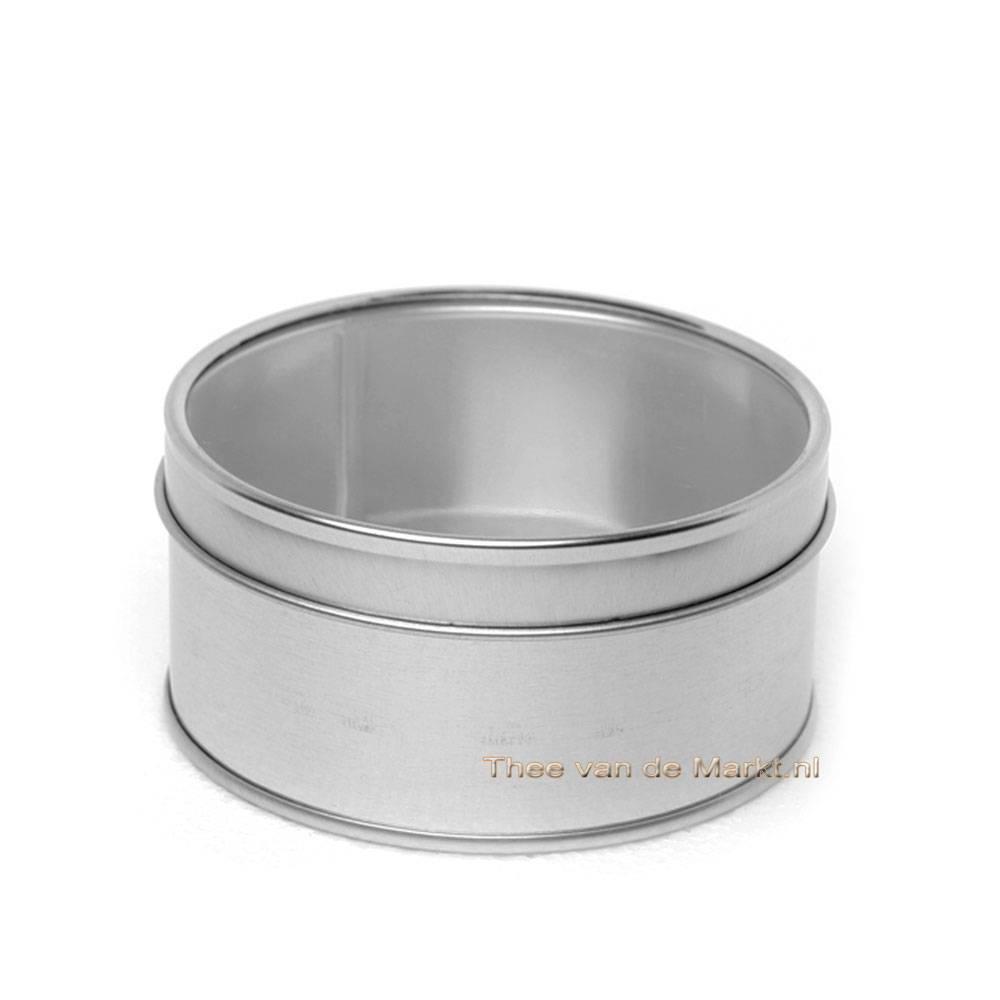 Thee blik voor 50 gram thee met transparant deksel bestellen thee van de markt - Deksel van de boom ...