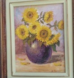 Zonnebloemen in een vaas